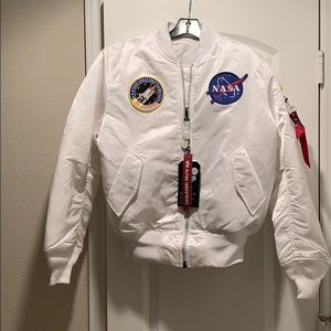 NASA Bomber Flight Jacket White